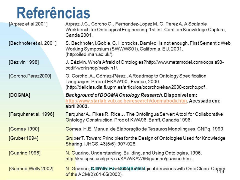 Referências [Arprez et al 2001]
